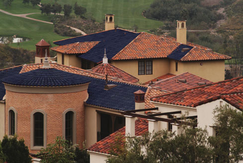 Residential Sole Power Tile Roof Installation #2 In The U.S. West Coast.  (Photo Courtesy SRS Energy)