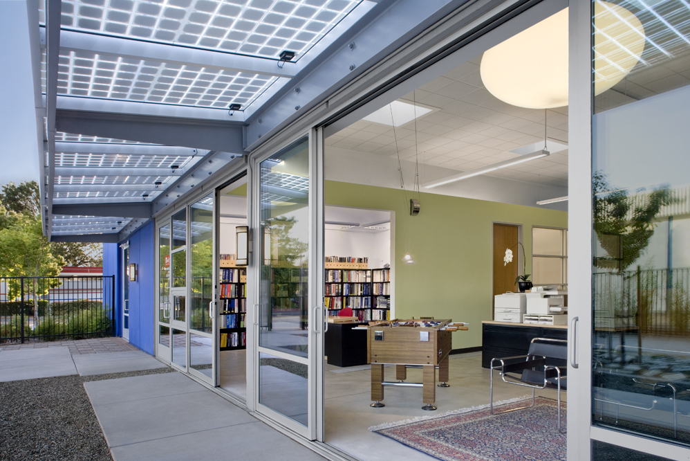 IDeA Z2 Design Facility Office in San Jose California South Elevation with Sliding Glass Doors & IDeA Z2 Design Facility Office in San Jose California South ...