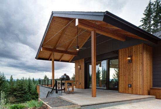 Pumpkin Ridge Passive House has been certified by three green building certification programs. (Photo by Jeff Amram)