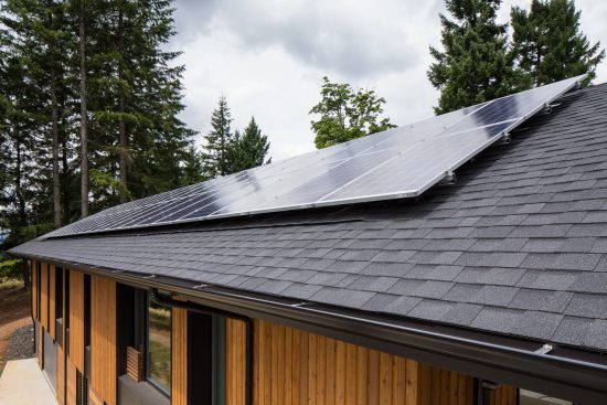 """The 9.9 kW solar array will bring the home into """"net zero energy"""" territory, meaning the home should produce as much or more energy than it consumes on an annual basis. (Photo by Jeff Amram)"""