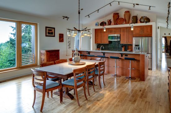 The Pumpkin Ridge Passive House utilizes an open floor plan. (Photo by Jeff Amram)