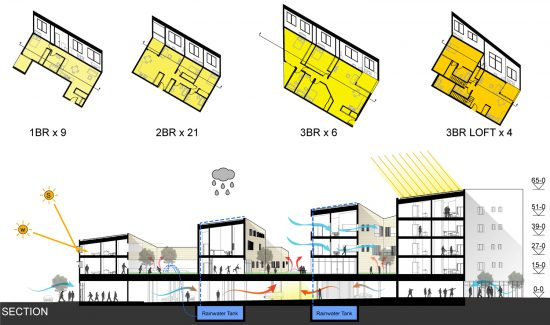 perFORM 2015 Building Design Competition Runner-Up Entry by Sang-Oh Jo, JungA Hong, and Do Yoon Kim, University of Illinois Urbana-Champaign. (Courtesy Hammer & Hand)