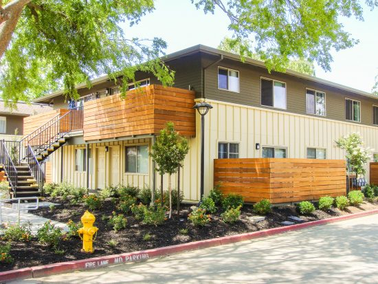 Renovations bring about a fresh look and water efficient landscaping to Clarendon Street Apartments in San Jose, California. (Photo courtesy Arbor Building Group, Inc.)