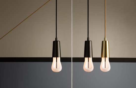 The elegant simplicity of the Plumen 002 LED bulb looks good by itself as well as in a group. (Photo courtesy Plumen)