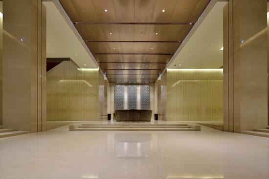 The main lobby of LEED-Gold certified Hua Nan Bank Headquarters. (Photo by Jeffrey Cheng)