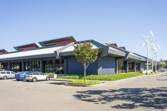 The Zero Net Energy Center in San Leandro, California provides hands-on electrical training for sustainable careers. The building was designed to achieve a 75% energy-use reduction compared to similar existing commercial buildings in the US and a 29% energy-use reduction compared to new commercial construction in California. (Photo by Mignon O'Young)