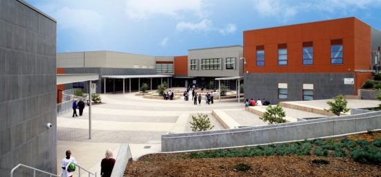 The newly built Willie L. Brown Jr. Middle School is the first design-build project with many energy efficient and sustainable features of the San Francisco Unified School District's portfolio. (Photo courtesy K2A Architecture + Interiors)