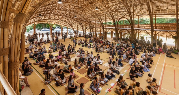 Bamboo Sports Hall withZero Carbon Footprint