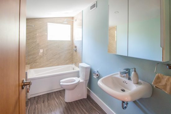 View of a bathroom in the AYO Smart Home Pilot House. (Photo courtesy AYO Smart Home)