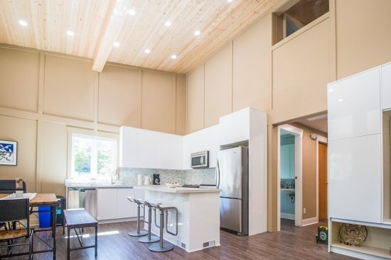 The kitchen and dining area of the AYO Smart Home Pilot House, Vancouver, Canada. (Photo courtesy AYO Smart Home)
