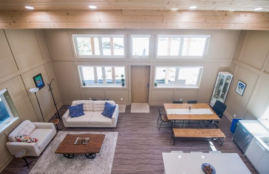 View of the living area in the AYO Smart Home Pilot House. (Photo courtesy AYO Smart Home)